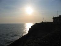 三石温泉から見る夕日