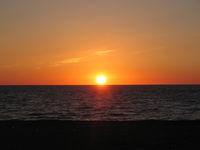 石狩浜からの夕日